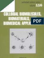 Marcel Dekker Colloidal Biomolecules Biomaterials and Biomedical Applications 2004