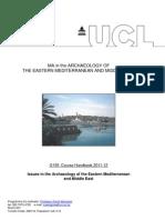 UCL Handbook for Mediterranean Studies Ma