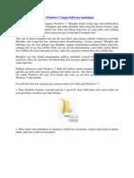 Cara Lock Folder Pada Windows 7 Tanpa Software Tambahan