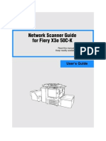 Toshiba Network Scanner Guide For fiery X3e