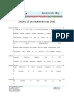 Guatemala Hoy 2012-09-27