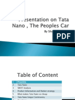 Presentation on Tata Nano , The Peoples Car
