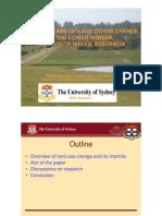 Ramita Manandhar - Twenty years of land cover change in the Lower Hunter, New South Wales, Australia