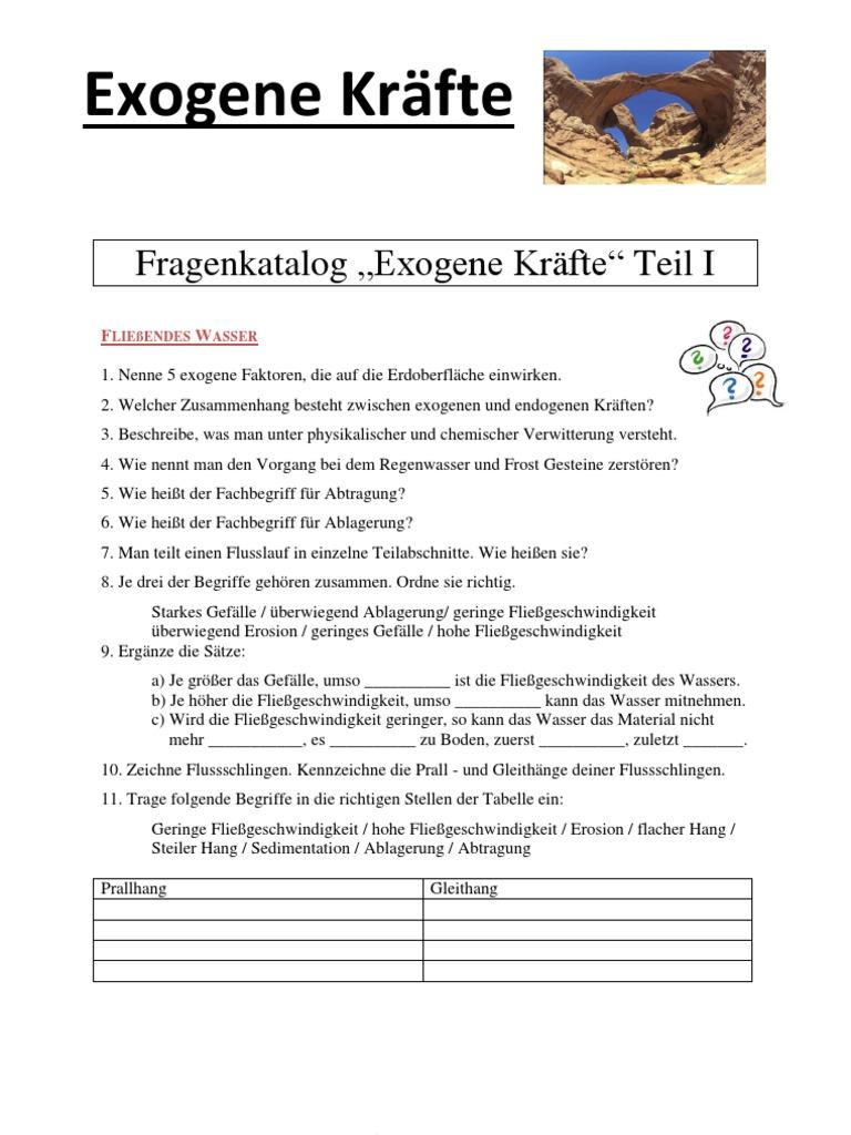 Colorful Verwitterung Und Erosion Arbeitsblatt Gift - Kindergarten ...