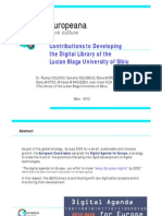 Contributions to Developing the Digital Library of the University of Sibiu
