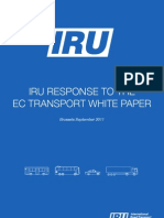 IRU response to the EC transport white paper