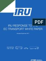 IRU response to the EC transport white paper