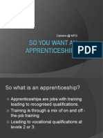 Yr 11 So You Want an Apprenticeship