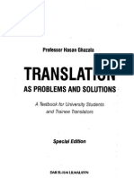 Translation as Problems and Solutions