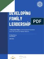 Developing Family Leadership