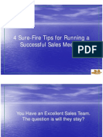 4 Sure-Fire Tips for Running a Successful Sales Meeting