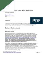 XML-Enabling Your Lotus Notes Application