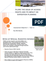 Explore the issue of access rights and its impact on expedition planning