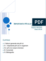 Importanta pH-Ului in Organism