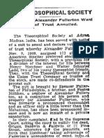 Newspaper report - Alex Fullerton