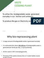 Bio Gas Plant- Details  2013