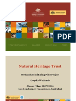 Simon Oliver - Natural Heritage Trust Wetlands Monitoring Pilot Project