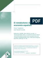 CARPINTERO, Oscar, El metabolismo de la economía española