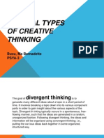Several Types of Creative Thinking
