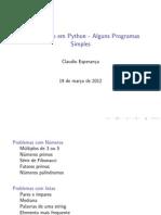 Program as Simples