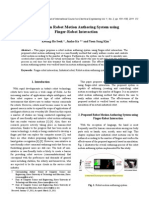 A Study on Robot Motion Authoring System using Finger-Robot Interaction