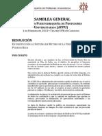 RESOLUCIÓN ASAMBLEA GENERAL APPU EN PROTECCIÓN AL SISTEMA DE RETIRO UPR