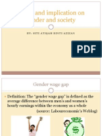 Issues and Implication on Gender and Society