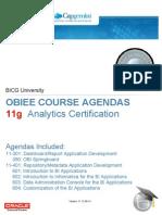 BICGU Agendas for 11g Analytics Certification