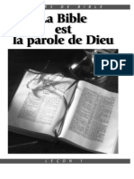 La Bible Est La Voie de Dieu