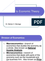 Intro to Economic Theory