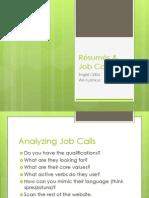 Resumes Job Calls