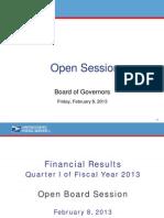 USPS FY 2013 1st Quarter Financials Presentation