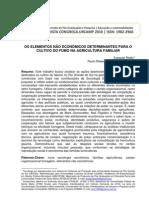 2010 - Redin e Silveira - Elementos não econômicos determinantes para o cultivo do fumo