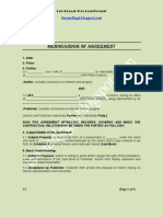 Format of Royalty Agreement
