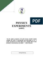 Physics 3B Lightexperiments