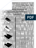 Reliability Analyses of Groundwater Pollutant Transport