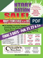 Cullens Liquidation Final 3 Days