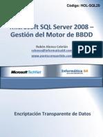 Microsoft SQL Server 2008 – Gestión del Motor de BBDD