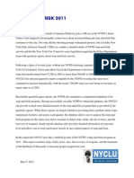 NYCLU 2011 Stop-And-Frisk Report