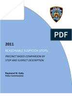 2011NYPD Stop Frisk Report