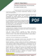 DIREITO TRIBUTÁRIO I esquema estudo