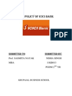 Hrd Policy of Icici Bank