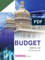 Government of Karnataka Budget - 2013-14