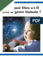 Pourquoi Dieu a-t-il créé le genre humain