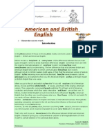 American and British English Exercise