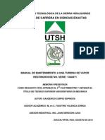 Manual de Mantenimiento a Una Turbina de Vapor Westinghouse