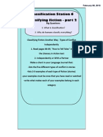 Classification Station 6 - Classifying Fiction Part Two