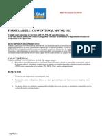 Formula Shell 20W50 10W40, 30, 40 TDS-Espanol