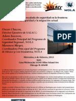 Foro Comunitario  La seguridad fronteriza y la Migracion actual  Español