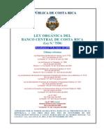 Ley Organica BCCR N 7558